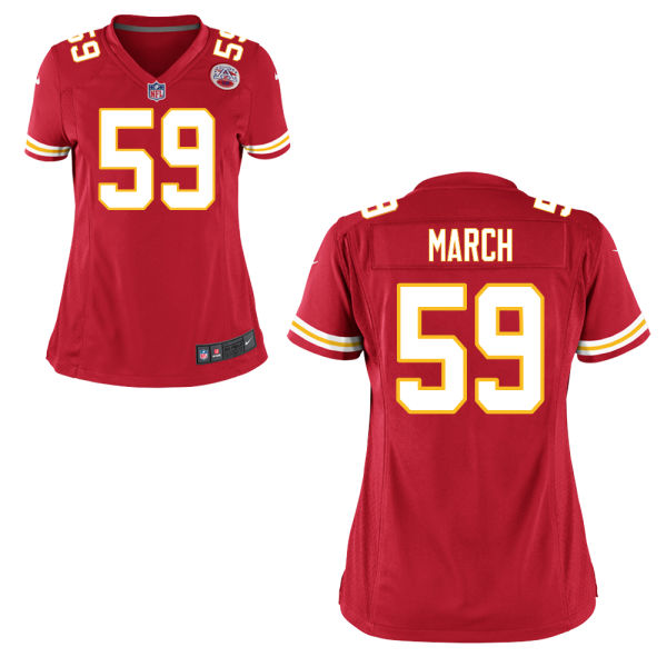 Justin March Women's Nike Kansas City Chiefs Elite Red Jersey