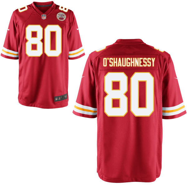 James O'shaughnessy Youth Nike Kansas City Chiefs Game Red Jersey