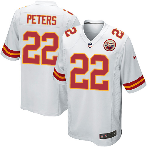 Marcus Peters Youth Nike Kansas City Chiefs Game White Jersey