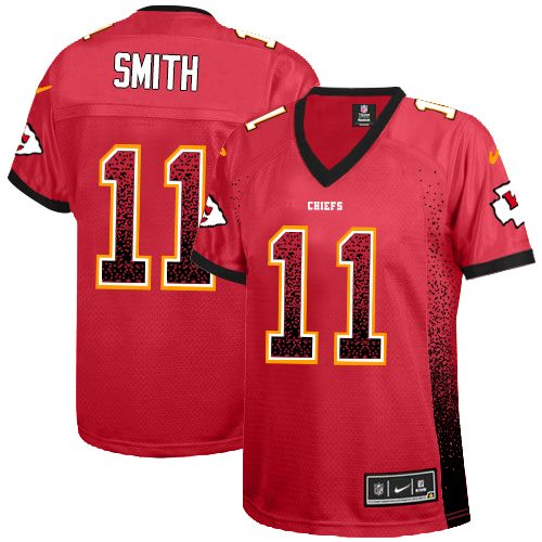 Alex Smith Women's Nike Kansas City Chiefs Elite Red Drift Fashion Jersey