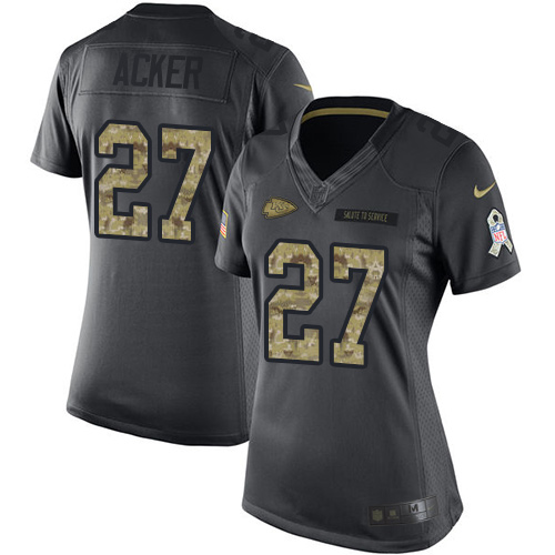 Kenneth Acker Women's Nike Kansas City Chiefs Limited Black 2016 Salute to Service Jersey